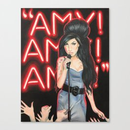 Amy Fame - colored pencil drawing Canvas Print