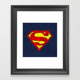 Super Man's Splash Framed Art Print