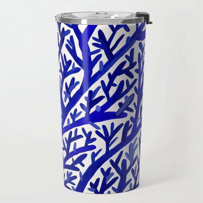Fan Coral – Navy Travel Mug