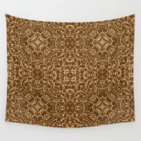 brown Wall Tapestries featuring Brown  by MinaSparklina