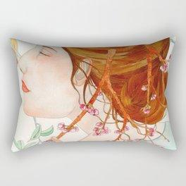 Under the cherrry blossom Rectangular Pillow