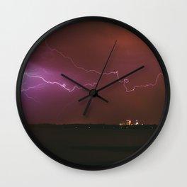 Storm Over Minneapolis Wall Clock