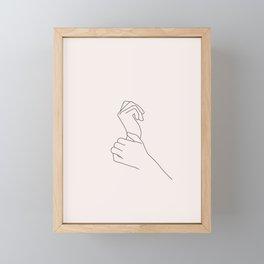 Hands line drawing illustration - Nellie I Framed Mini Art Print