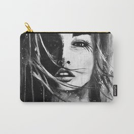 Watercolour Fashion Illustratrion Portrait The Ephemeral Illusion Carry-All Pouch