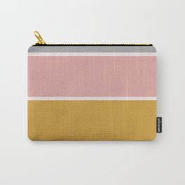 Colored blocks, blue, pink, grey and orche Carry-All Pouch