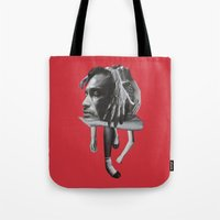 sad Tote Bags featuring Sad by fabiotir