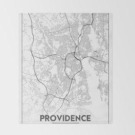 Minimal City Maps - Map Of Providence, Rhode Island, United States Throw Blanket