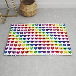 Greyt Greyhound Rainbow Hearts Rug
