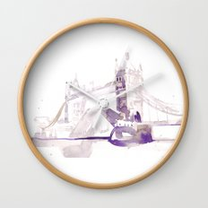 Watercolor landscape illustration_London Bridge Wall Clock