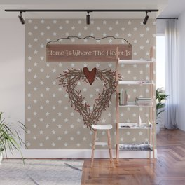 Home Is Where The Heart Is Wall Mural