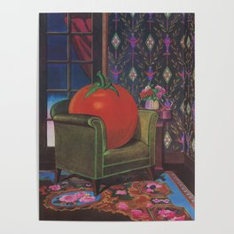 Therapy With A Tomato Milton Glaser - Tomato- Something unusual is going on here - 1978 Poster
