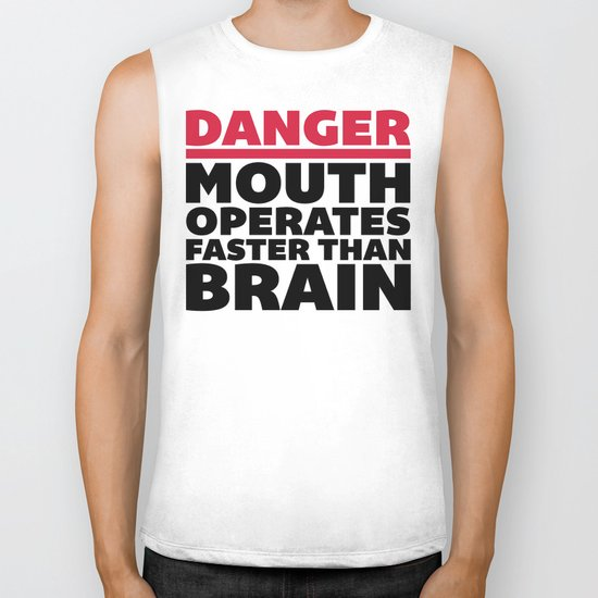Mouth Faster Than Brain Funny Quote Biker Tank