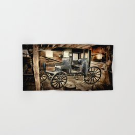 Vintage Horse Drawn Carriage Hand & Bath Towel
