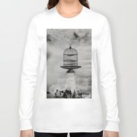 spaceship Long Sleeve T-shirts featuring spaceship jail by sr casetin