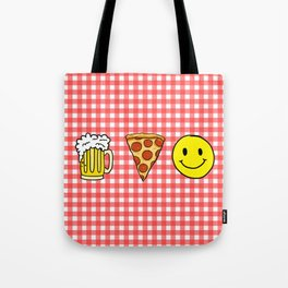 Beer Pizza Happiness Tote Bag