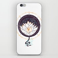 lotus iPhone & iPod Skins featuring Lotus by Hector Mansilla