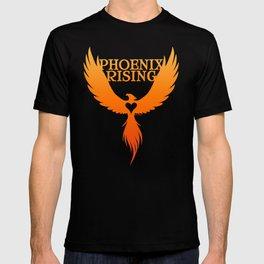 PHOENIX RISING orange with heart center T-shirt