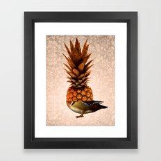 Pineapple Duck Framed Art Print