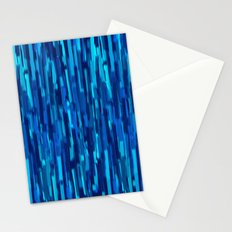 vertical brush blue version Stationery Cards