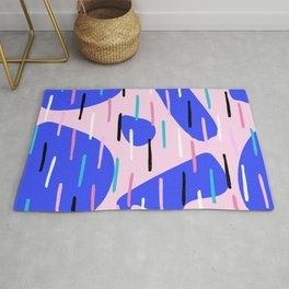 Bright Lines Organic Shapes Pattern Abstract Rug