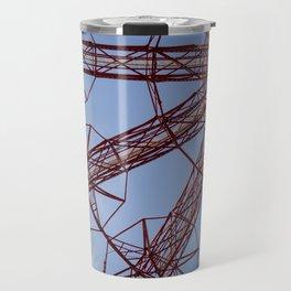 Red Parachute Drop Coney Island Travel Mug