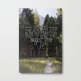The Smallest Step Metal Print