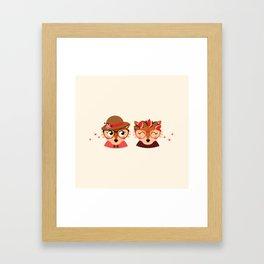 Jumelles renardes Framed Art Print