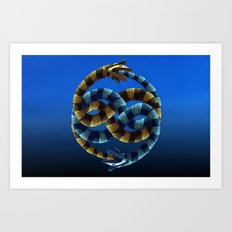 The Never Ending Sand Worm Art Print