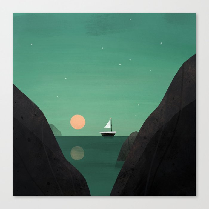 Ship at Dawn Canvas Print