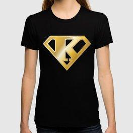 Gold Super K Logo T-shirt