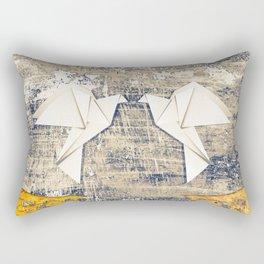Pair of paper pigeons Rectangular Pillow