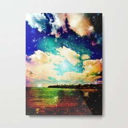 Far Out Beach Metal Print