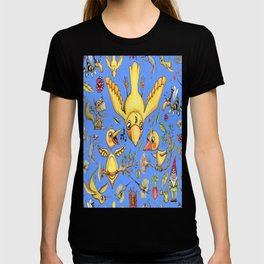 view out of my window, lots of birds! T-shirt