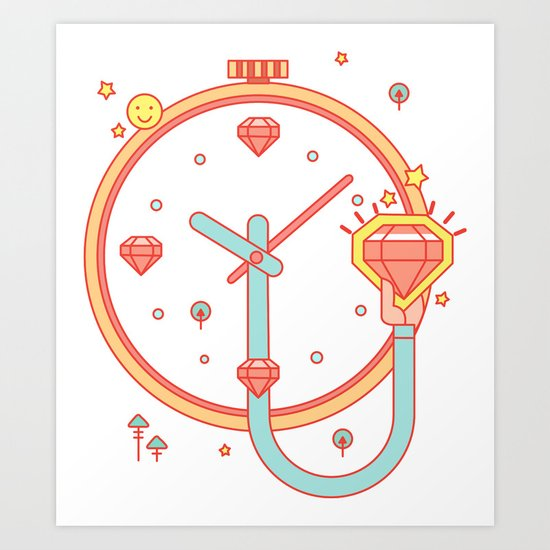 Thank you for your time. Art Print