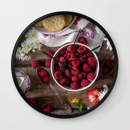 raspberries Wall Clock