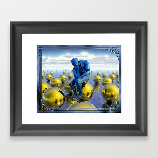 Thinking Man Framed Art Print