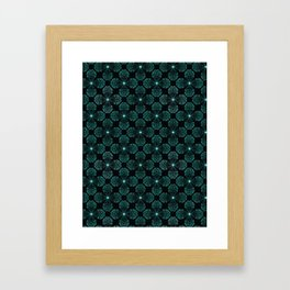 Geometrical flower crystal shape Framed Art Print