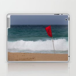 Red flag No Swimming Laptop & iPad Skin