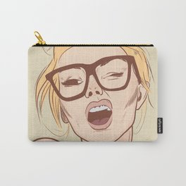 Glasses Girl Carry-All Pouch