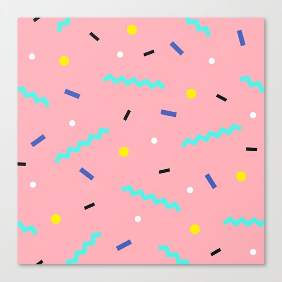 Memphis pattern 54 Canvas Print