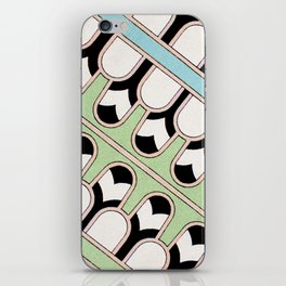 Vintage Mint Green Assyrian Pattern with a hint of Art Deco iPhone Skin