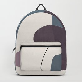 Abstract Glimpses in Peninsula Blue and Aubergine Backpack