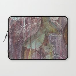 Purple fractal with circles Laptop Sleeve
