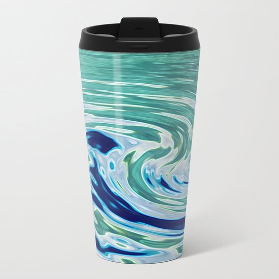 OCEAN ABSTRACT 2 Metal Travel Mug