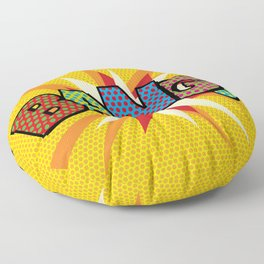 BANG Comic Book Modern Pop Art Fun Typographic Floor Pillow
