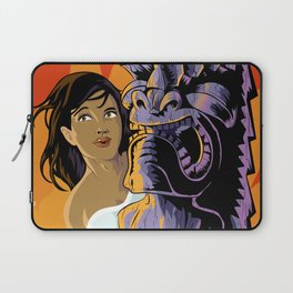Wahine, Moon And Fire Laptop Sleeve