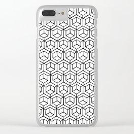 Hand Drawn Hypercube Clear iPhone Case