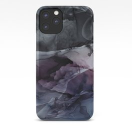 Moody Dark Chaos Inks Abstract iPhone Case