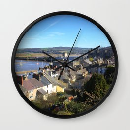Spring Day At Conwy Wall Clock