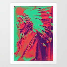 Melting Coyote Art Print